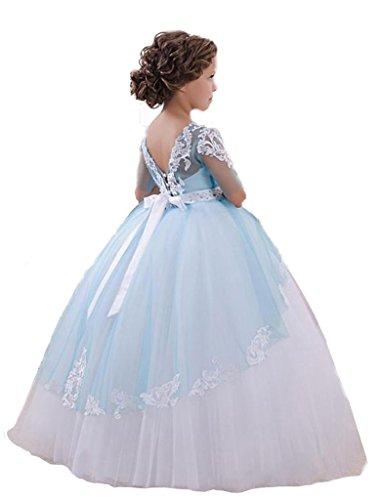 JYDress - Vestido - corte imperio - para mujer azul celeste