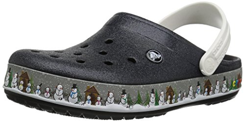 Crocs Unisex Crocband Holiday Clog,Black,10 US Men/12 US Women