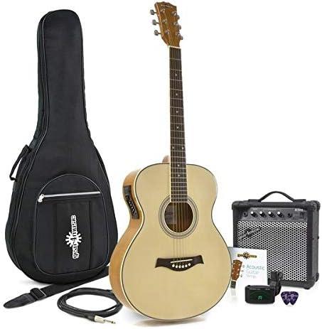 Guitarra Electroacustica de Concierto + Pack de Amplificador de ...