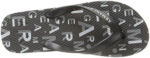 A | X Armani Exchange Menns Logo Print Flip Flop Logo Print Sort