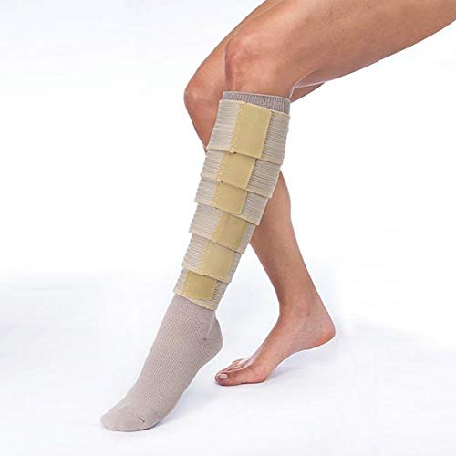 FarrowWrap Classic Legpiece, Tan with compression sock, BSN Jobst FarrowMed (Regular-Medium) ()