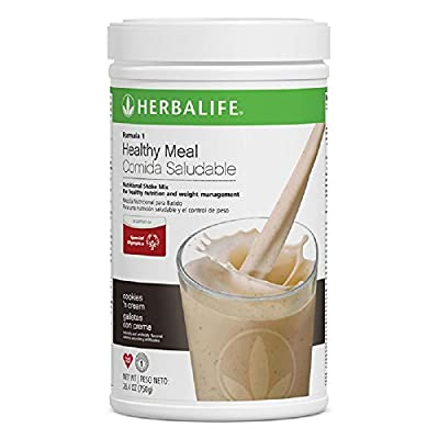 Herbalife Formula 1 Healthy Meal Nutritional Shake Mix (10 Flavor) (Cookies 'n Cream)