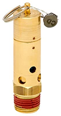 """Control Devices SN Series Brass ASME Safety Valve, 200 psi Set Pressure, 1/2"""" Male NPT from Control Devices"""