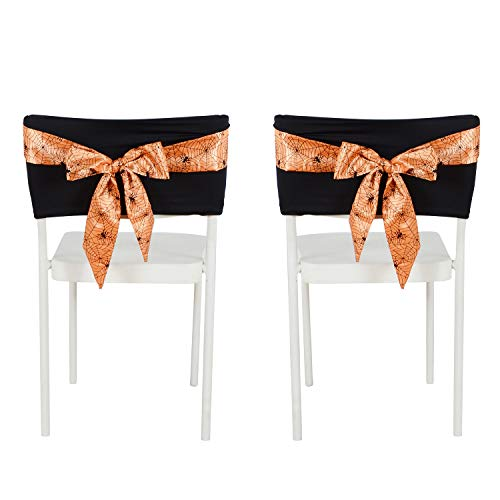 Besutolife Halloween Removable Chair Covers with Decorative Spider
