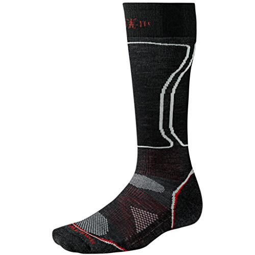 Smartwool Mens Ph D Snowboard (Smartwool Men's PhD Snowboard Light Socks (Black) Medium)