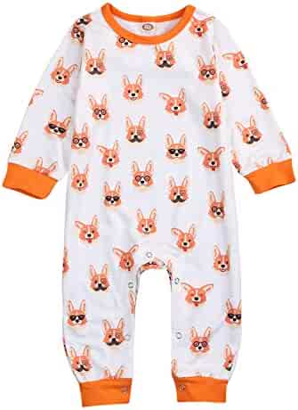 0a7f5fdf2 YOUNGER TREE Newborn Toddler Baby Boys Girls Organic Cotton Long Sleeve  Jumpsuit Romper Pajama Outfit Clothes