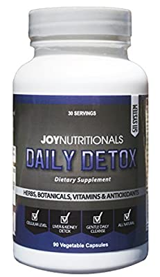 Daily Detox - Advanced Liver, Kidney and Cellular Support, Detox & Cleanse Supplement. Milk thistle, Ashwaganda, Grape Seed, Bacopa, Schisandra & More. Non-laxative, Senna free. All Natural, Non GMO
