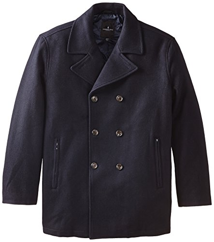 Quilted Peacoat (London Fog Men's Tall Houston Peacoat and Quilted Lining, Officer Navy,)