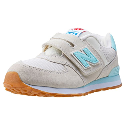 New Balance Kv574 Kids Trainers Grey Turquoise - 13 UK