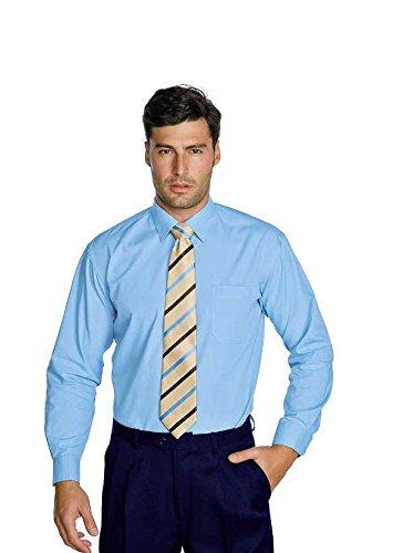 Manica Isacco 35 23669 Azzurro Albicocca Poliestere Cotone Lunga Camicia Unisex Xs 65 a11OwqT8