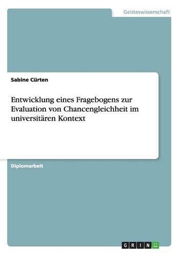 Download Entwicklung eines Fragebogens zur Evaluation von Chancengleichheit im universitären Kontext (German Edition) Text fb2 ebook