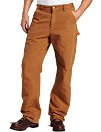 Carhartt Men's Washed Duck Work Dungaree Flannel Lined B111