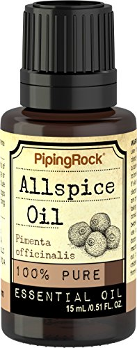 Piping Rock Allspice 100% Pure Essential Oil 1/2 oz (15 ml) Dropper Bottle Pimenta Officinalis Therapeutic Grade