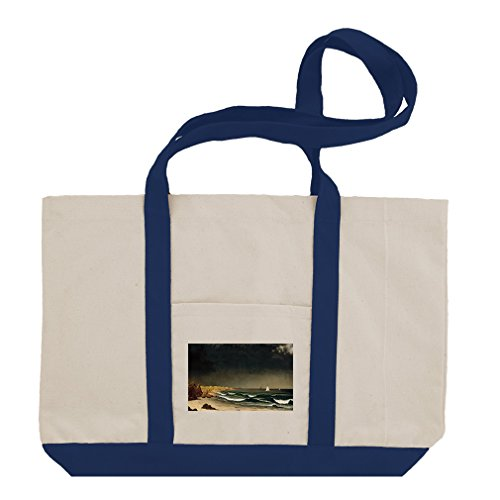 Approaching Storm Newport (Mj Heade) Cotton Canvas Boat Tote Bag - Royal Blue ()