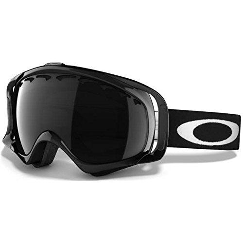 Mens Danny Way (Oakley Unisex Adult Crowbar Rectangular Plutonite Snow Goggles (Jet Black, Dark Grey))