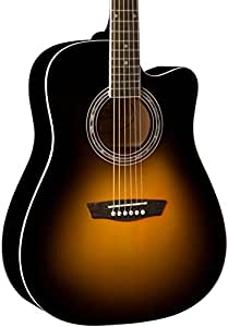 washburn wa90ce dreadnought acoustic electric guitar vintage tobacco sunburst. Black Bedroom Furniture Sets. Home Design Ideas