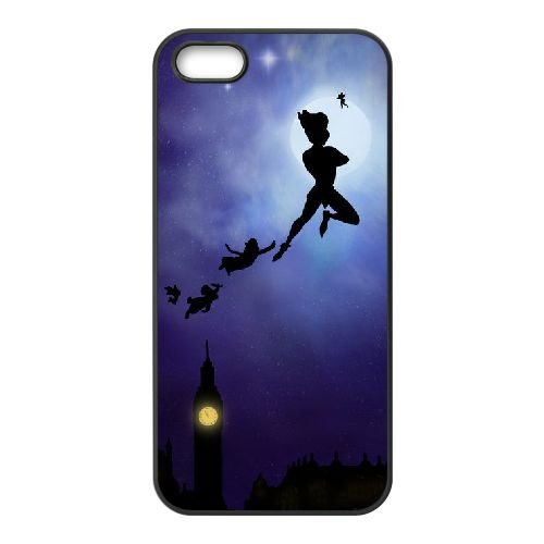 Peter Pan 002 coque iPhone 5 5S Housse téléphone Noir de couverture de cas coque EEEXLKNBC19525