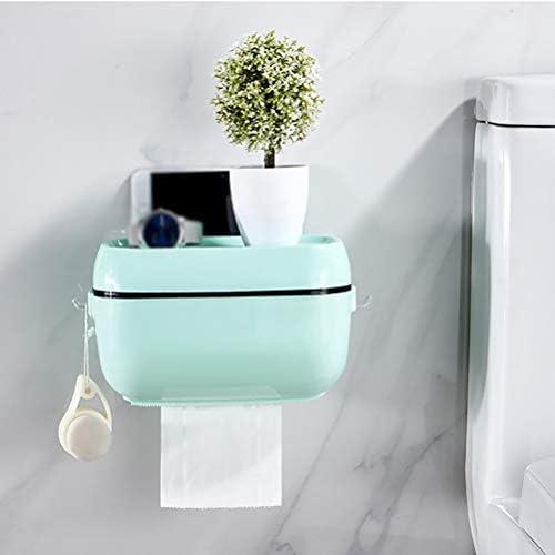 トイレットペーパーホルダー、壁掛け収納ボックス電話ティッシュシェルフ、バスルーム防水ティッシュボックス、家庭用ポータブルトイレットペーパーホルダー