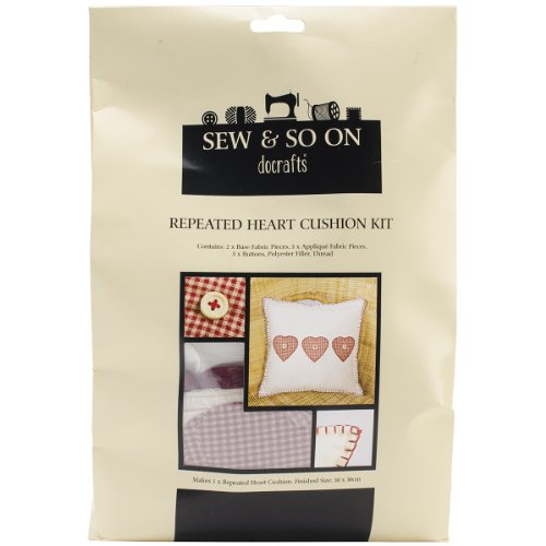 Sew and So on Cushion Kit, Repeated Heart by SewSew