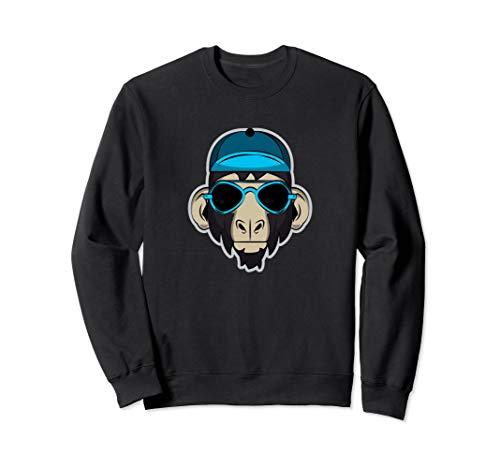 (Cool Monkey, Primate, Ape, Monkey, Sweatshirt)