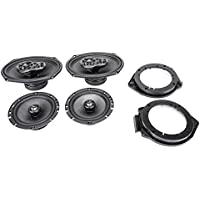 2008-2012 Chevrolet Malibu Complete Factory Replacement Speaker Package by Skar Audio with Speaker Adapter