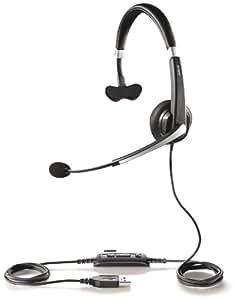 Jabra UC Voice 550 Mono USB Monoaural Diadema auricular con micrófono - Auriculares con micrófono (Centro de llamadas/Oficina, Monoaural, Diadema, Alámbrico, Circumaural, Windows XP, Windows Vista (32-bit, 64-bit), Windows 7 (32-bit, 64-bit))