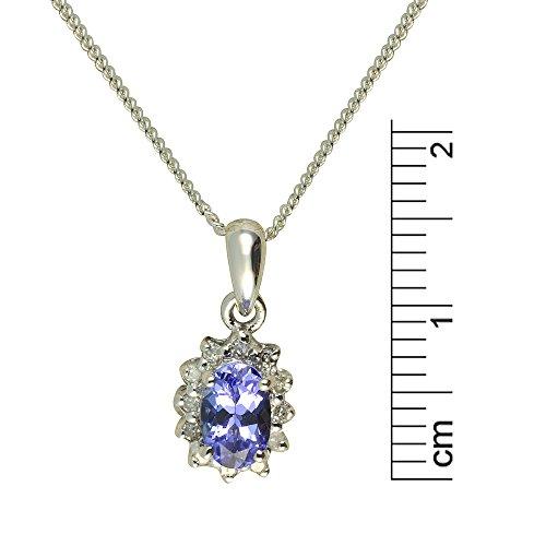 Parure Collier et Boucles d'Oreilles - 118P0099 - 2 - Femme - Or Blanc 375/1000 (9 Cts) 1.887 Gr - Tanzanite 0.008 Cts