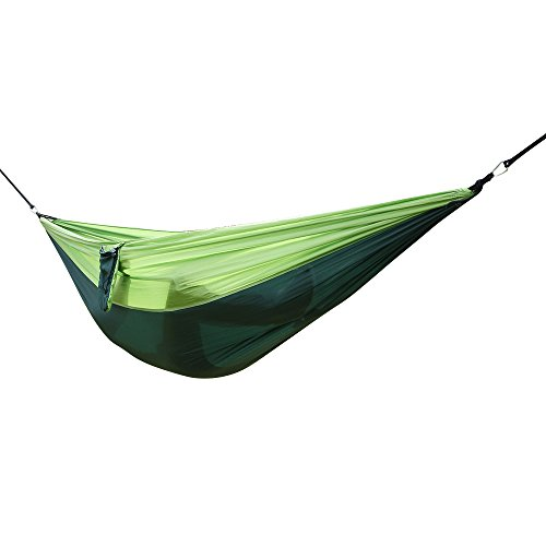 Lovinland Portable Hammock Chair, Hanging Rope Swing Cotton Patio Yard Sky Chair for Indoor Outdoor Use Dark Green Green