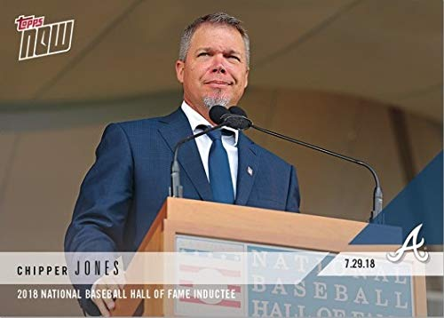 2018 Topps Now #525 Chipper Jones Baseball Card - Inducted into Hall of Fame - Only 701 made!
