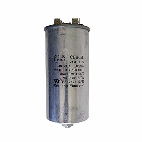 (Capacitor 24uF 120-480 Volt Metal Halide 1000 Watt - PinGe CBB65L (1 Piece))