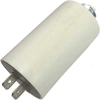 AERZETIX Condensador permanente para trabajo del motor 6/µF 425V con terminales /Ø32x55mm /±5/% 10000h C18666
