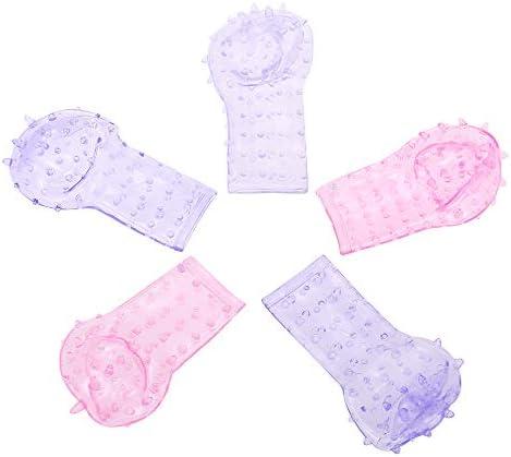Anself Finger Hüllen Sleeve mit Noppen Dildo für deine Finger Fingervibrator G-Punkt Tickler Klitorisvibrator für Frauen und Männer