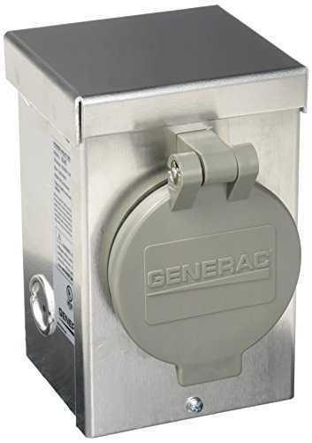 - Generac 6346 30-Amp 125/250V Aluminum Power Inlet Box with Spring-Loaded Flip Lid