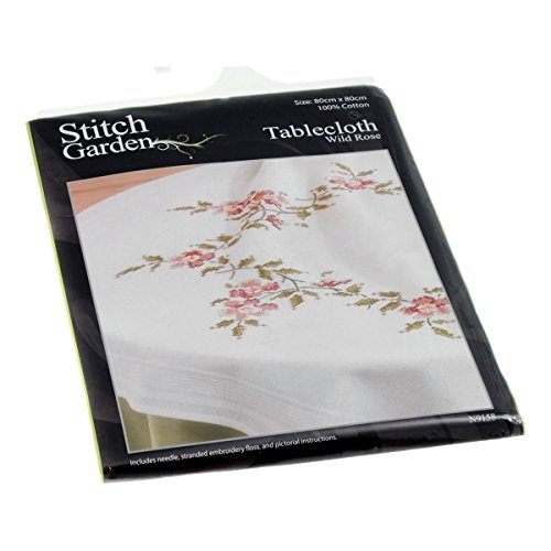 Cross Stitch: Tablecloth - Wild Rose