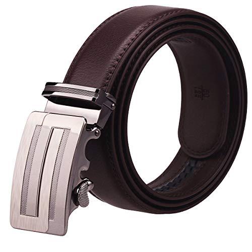 [해외]STIUCCE 버클 (A26)를 가진 남자의 진짜 가죽 래 칫 드레스 벨트 / STIUCCE Men\u2019s Genuine Leather Ratchet Dress Belt With Buckle(A26)