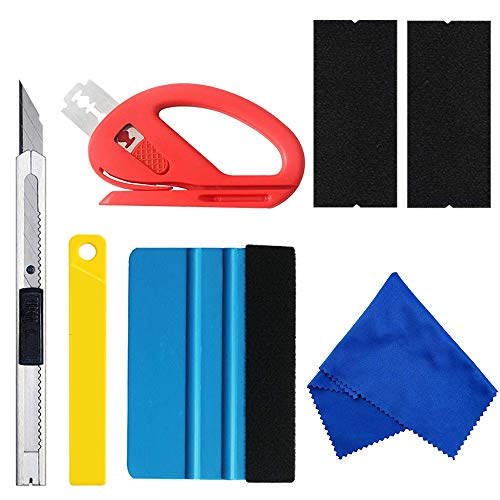 (MYFAMIREA Vehicle Vinyl Film Tool Kit for Car Wrapping 7PCS Vinyl Wrapping Window Tint Tools for Car Wrapping 1 Set)