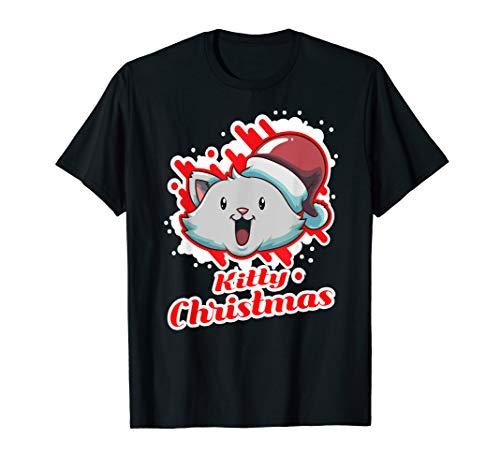 Singing Laughing Santa Claus Cat Merry Kitty Christmas Gift T-Shirt