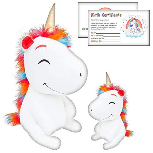 TMR GLOBAL Ace Design Giant Plush Stuffed Unicorn Toy  Set  for Girls  or Boys -...