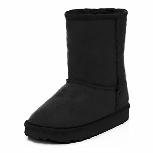 Schwarz Schaffell Kinder Sheepskin Boots Classic Just w7fvTx0W