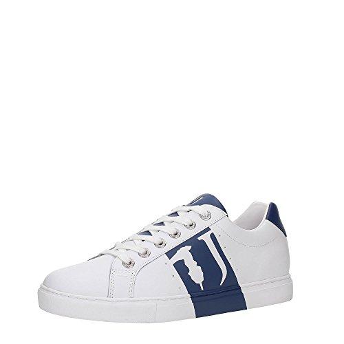 TRUSSARDI JEANS by Trussardi - Zapatillas para deportes de exterior para hombre blanco blanco/azul 41 blanco/azul