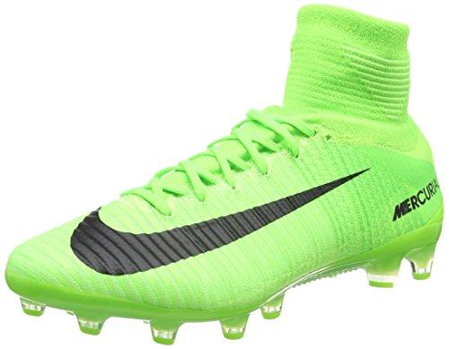Nike Mercurial Superfly V AG-PRO, Botas de Fútbol para Hombre, Verde (Electric Green / Black-Ghost Green-White), 45.5 EU