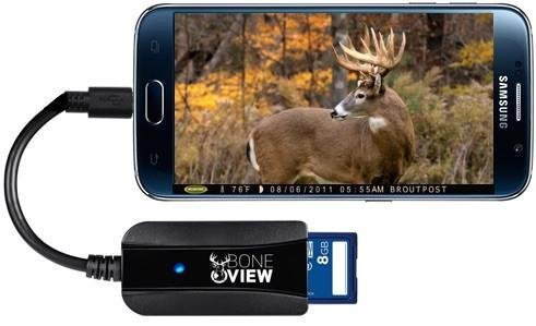 BoneView Trail Camera Viewer SD Card Reader for Android Phones - 10X Professional Edition