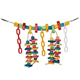 """Moonguiding 1 Pcs Bird Rainbow Bridge, Chewing,Hanging Toy, Parrot Nest Suitable For A Wide Variety Of Large and Small Parrots And Birds, 15.7"""" by 8.7"""""""