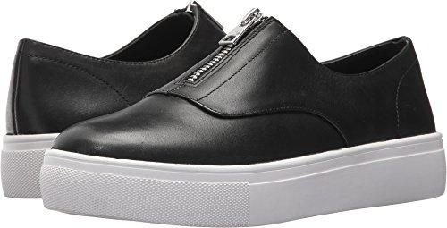 STEVEN by Steve Madden Women's Gratis Sneaker, Black Leather, 8 Medium (Steven Suede Wedges)