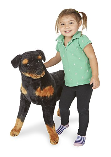 Melissa & Doug Giant Rottweiler -  Lifelike Dog Stuffed Animal (2 feet tall) by Melissa & Doug