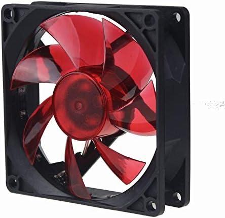 30Pcs Gdstime Red Led Fan Cooler 3Pin 90mm Radiator DC 12V for Computer Case Cooling