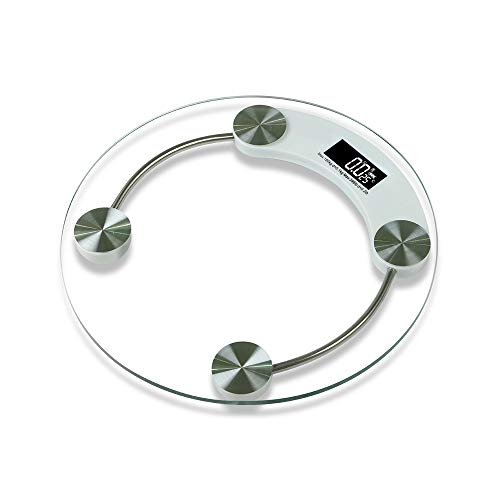 Body Fat Scale Portable Round Weight Tempered Glass Electronic Scales Led Digital Display Scale
