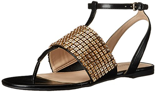 Nine West Women's Siobhan Synthetic Dress Sandal, Black, 8 M US (Nine West Flat Sandals Women)