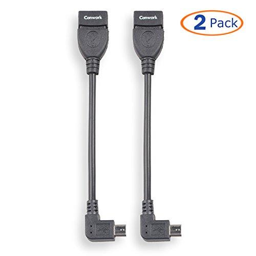 USB Host to Mini USB On-the-Go Adapter (Black) - 2