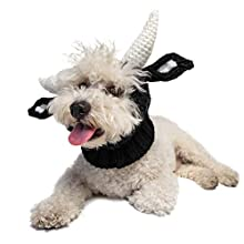 Zoo Snoods Bull Dog Costume - Neck and Ear Warmer Hood for Pets (Medium)
